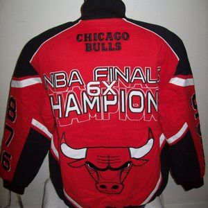CHICAGO BULLS 6 TIME NBA FINALS CHAMP JACKET L XL
